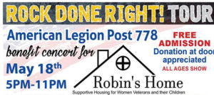 May 6, 2018: Robin's Home Benefit Concert